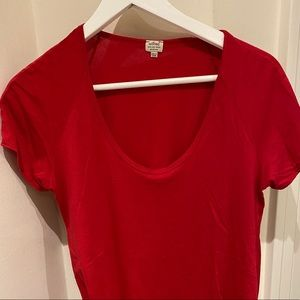Wilfred Soft Red Pima Cotton Short Sleeve.